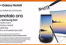 Samsung DeX Galaxy Note 8 preordine