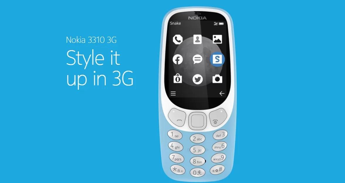 Nokia 3310 versione 3G è ufficiale con interfaccia e colori rinnovati