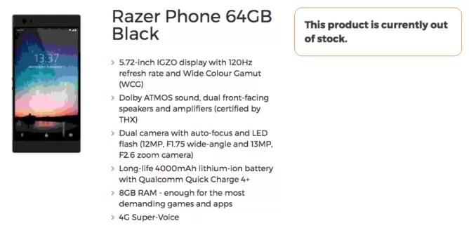 Razer Phone: ecco lo smartphone per il tempo libero