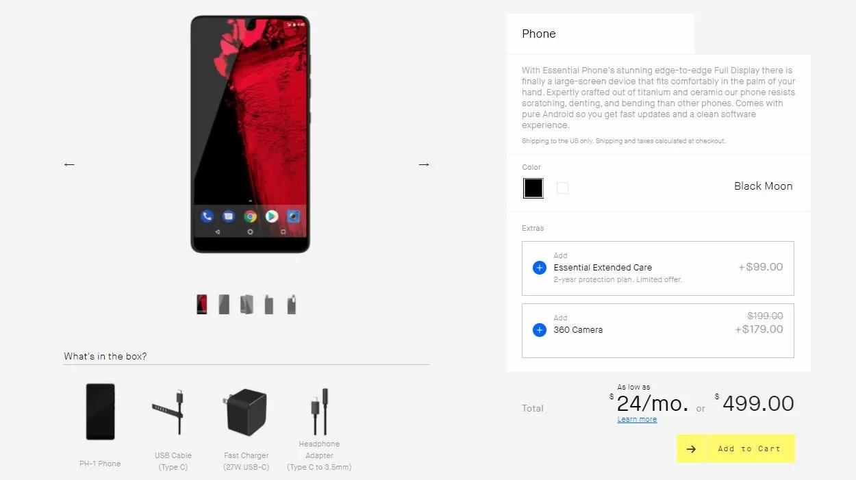 Essential Phone cala di 200$: insuccesso annunciato?