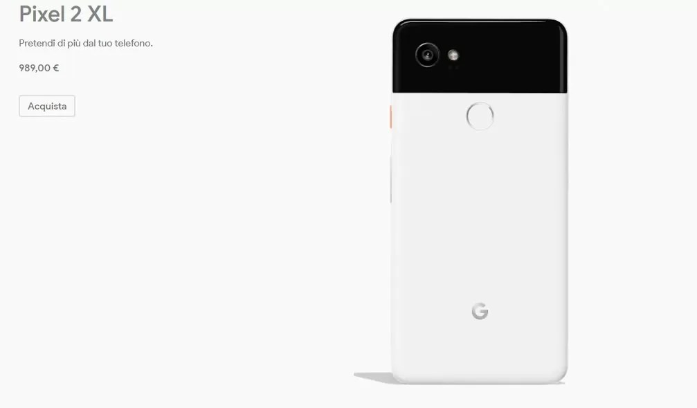 Google Pixel 2 XL prezzo dove comprare