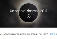 google argomenti più ricercati 2017 italia