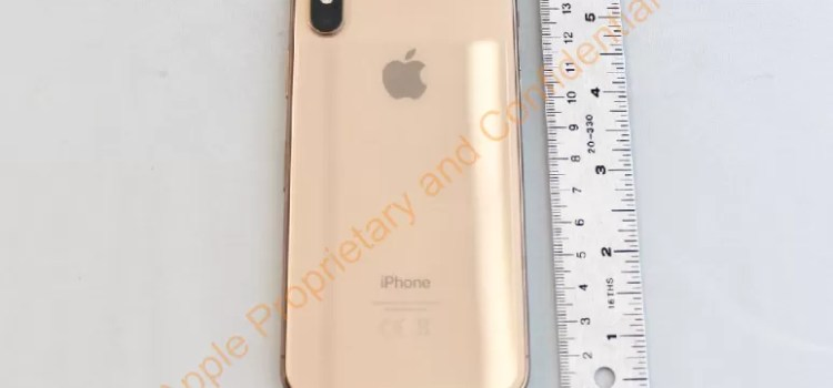 apple iphone X blush gold foto reale