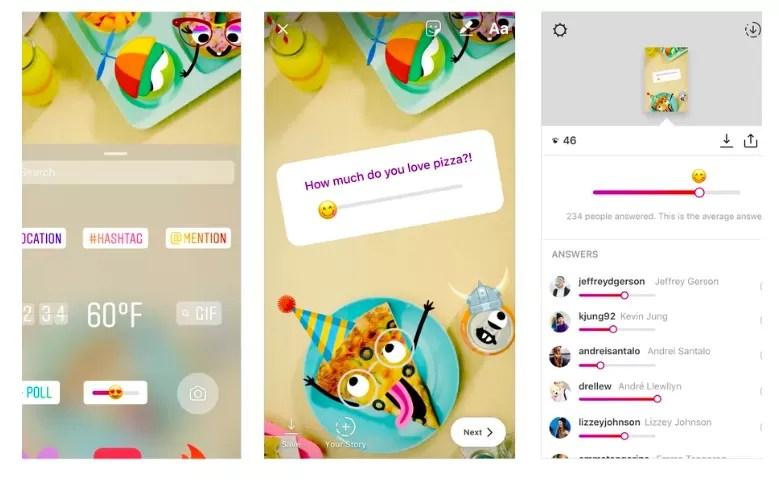 Novità su Instagram, arrivano gli adesivi con emoji a scorrimento