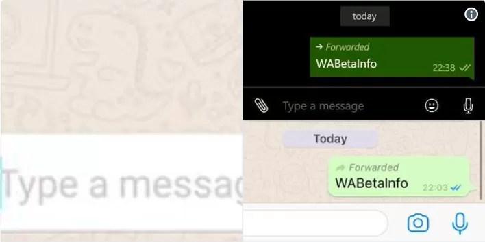 whatsapp inoltro etichetta