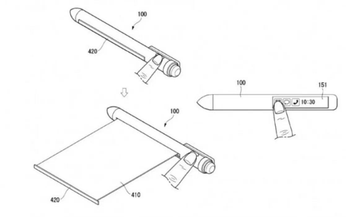 LG brevetta la Smart Pen con doppio display e