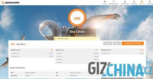 3DMark Sky Diver result