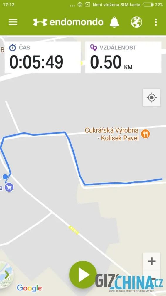Přesnost GPS je perfektní.
