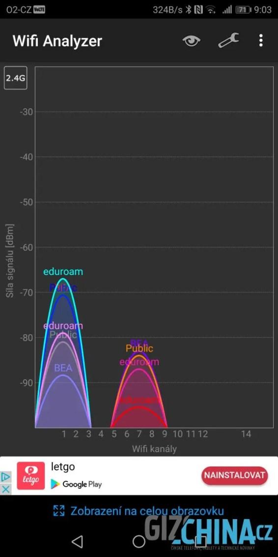 Samozřejmá je podpora Wi-Fi v obou pásmech