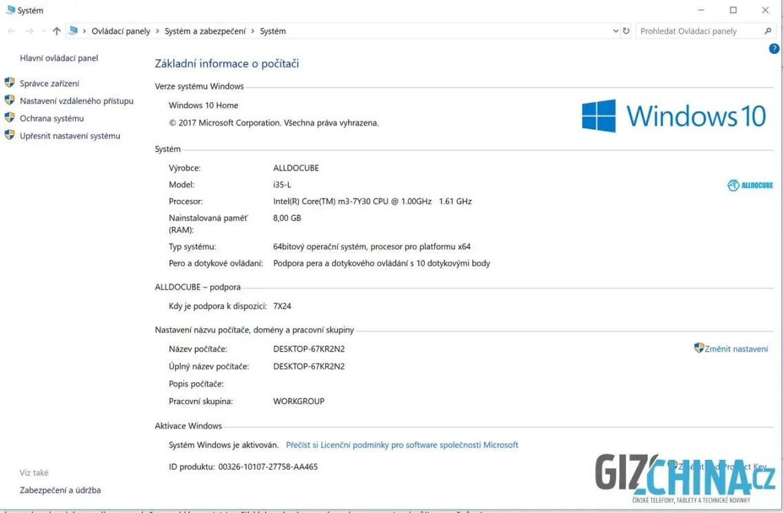 Informace o systému Windows