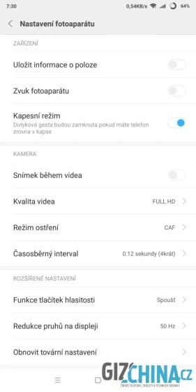 Nastavení videa
