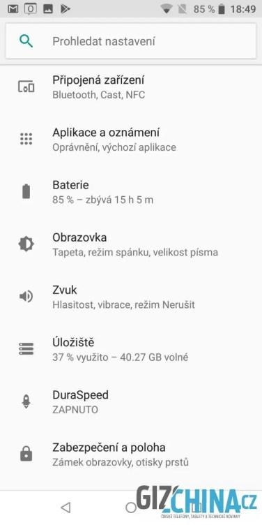 Nastavení čistého androidu