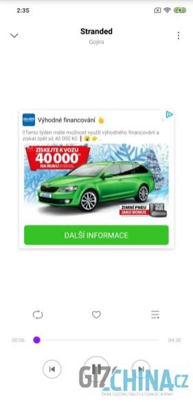 ukázka reklamy v aplikaci 2