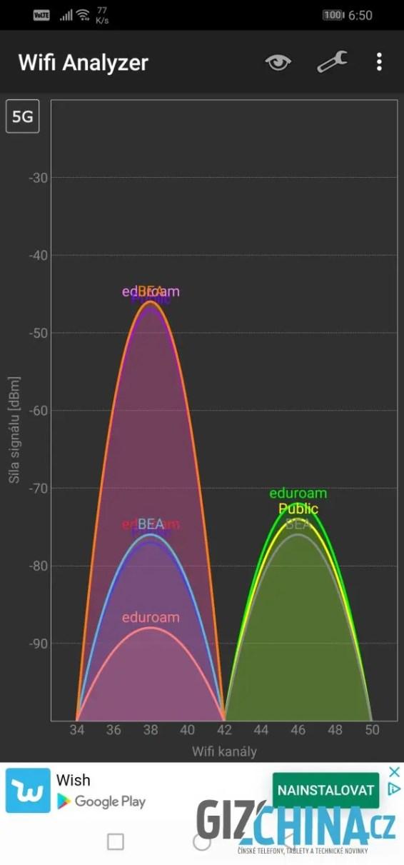 Wi-Fi pracuje v pásmu 5 GHz