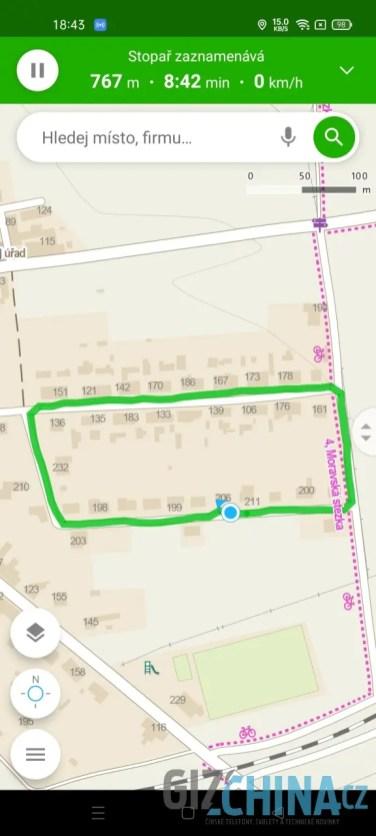Přesnost GPS je výborná
