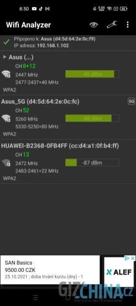 Wi-Fi zvládá obě pásma