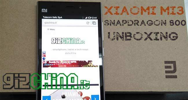 Xiaomi Mi3 unboxing by GizChina.it