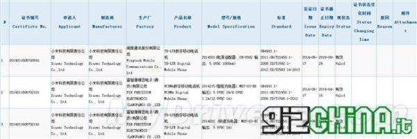 Xiaomi Mi3S RedmiNote LTE y Xiaomi Mi4