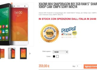 Xiaomi Mi4 16GB Bianco su Xiaomishop.it
