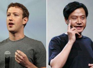 Lei Jun e Mark Zuckerberg
