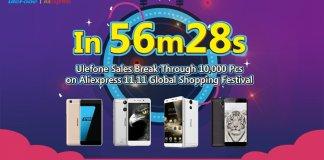 ulefon 10.000 device aliexpress 11.11