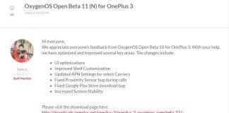 OnePlus 3 OxygenOS Open Beta 11