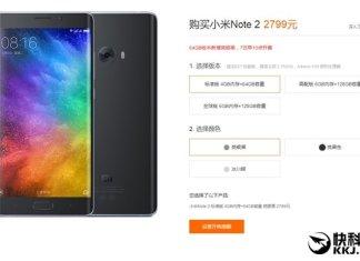 Xiaomi Mi Note 2 silver black