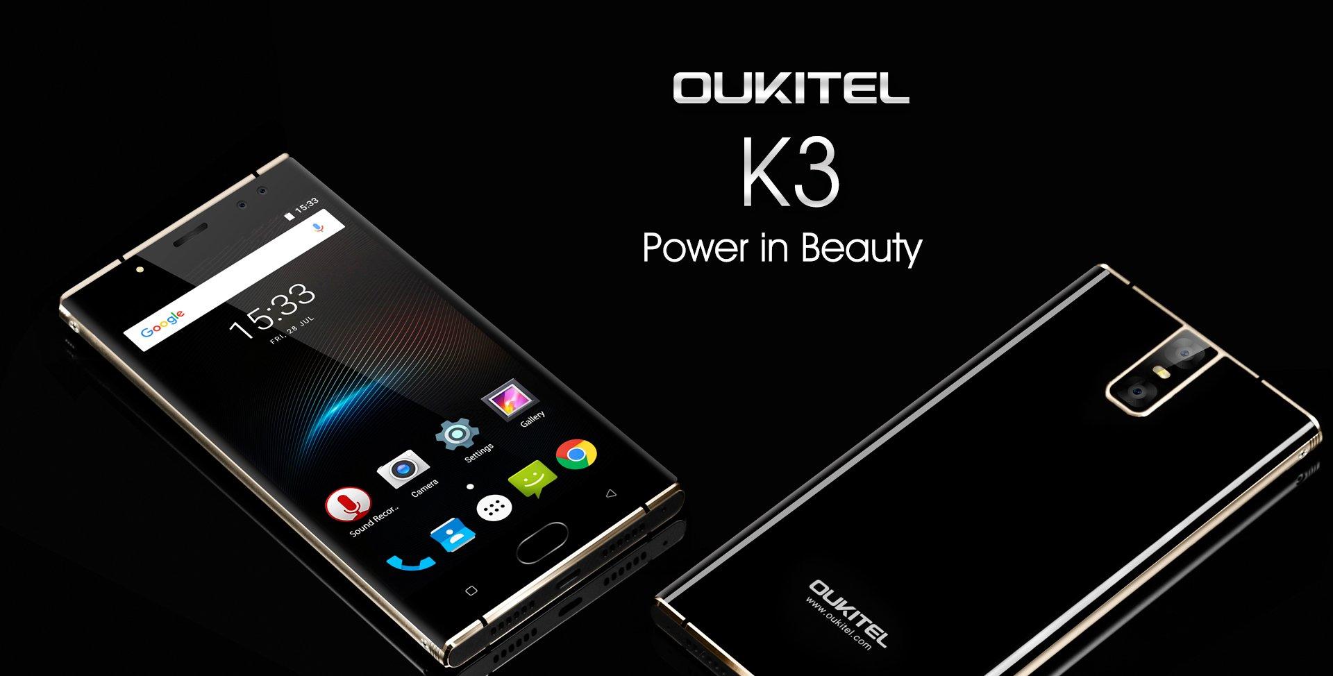 Oukitel K3 ufficiale: quattro fotocamere e batteria da 6000mAh