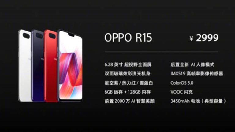 Annunciati i nuovi Oppo R15 ed Oppo R15 Dream Mirror Edition
