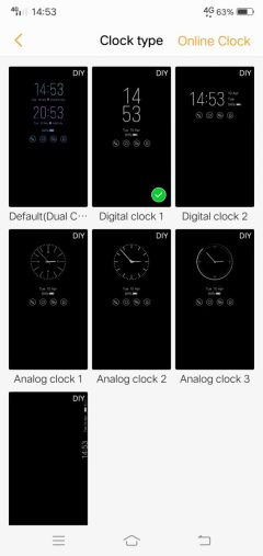vivo x21 ud always on clock