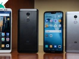 Xiaomi Redmi Note 5 VS Xiaomi Redmi 5 Plus VS Xiaomi Redmi Note 4 VS Huawei P20 Lite