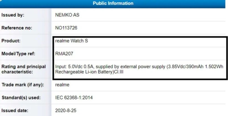 realme watch s pro specific images price release