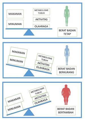 Diagram Asupan Gizi Berat Badan