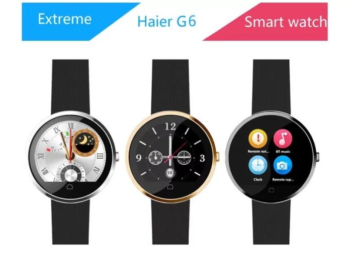 Haier G6, nouvelle montre avec contrôle gestuel