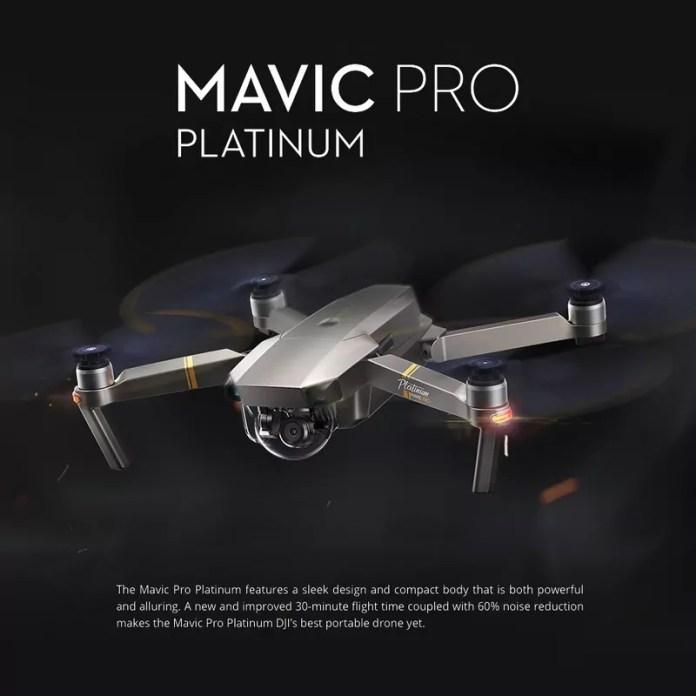 DJI Mavic Pro Platinum : Promo sur le Drône haut de gamme