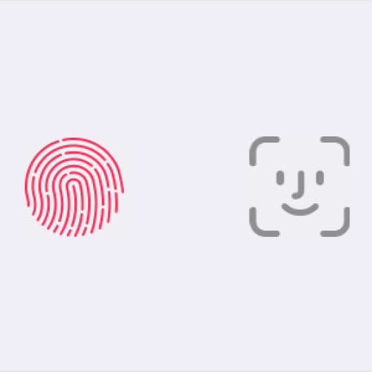 Apple Touch ID and Face ID