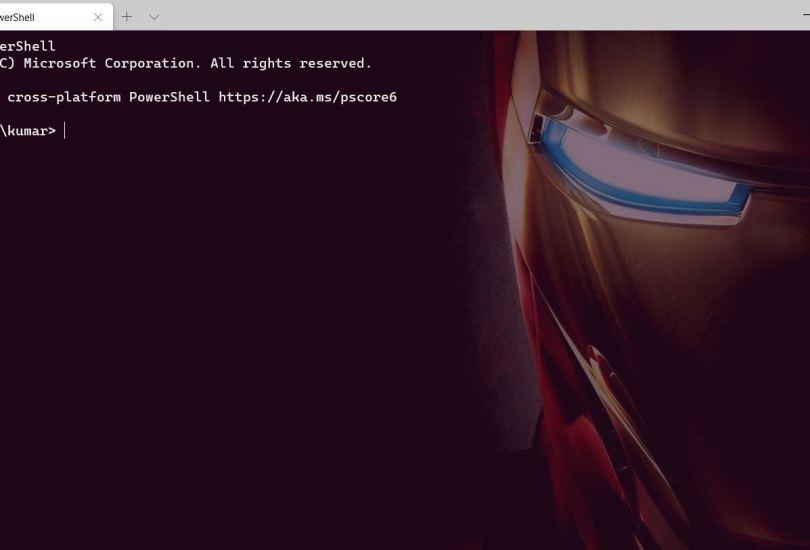 Windows Terminal Customize Iron Man