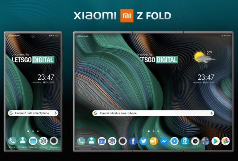 Xiaomi patents a Z fold foldable smartphone design