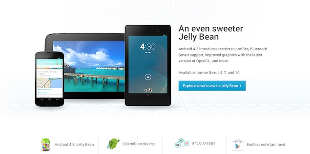 google announced android 4.3