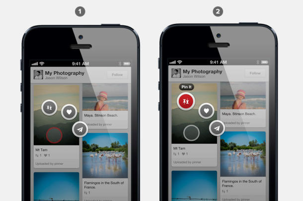 Pinterest updates iOS app