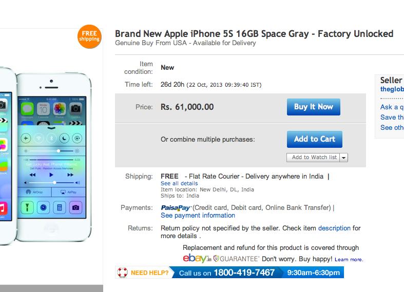 iphone 5s india ebay cheapest