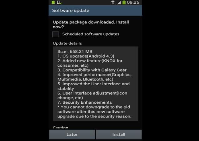 samsung galaxy s4 update india