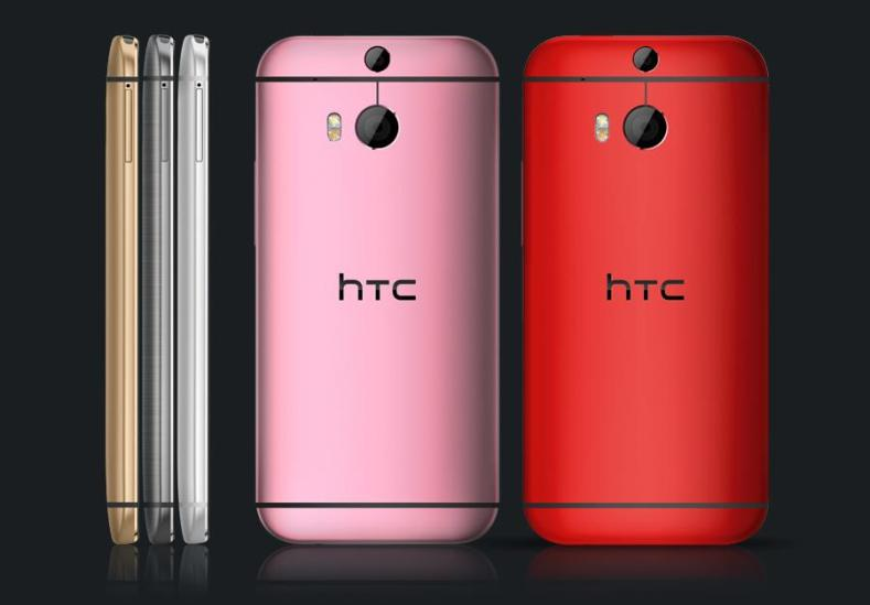 HTC M8 pink red