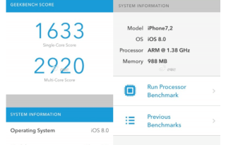 iphone 6 geekbench