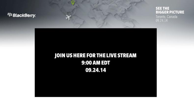 BlackBerry Passport Live Stream event