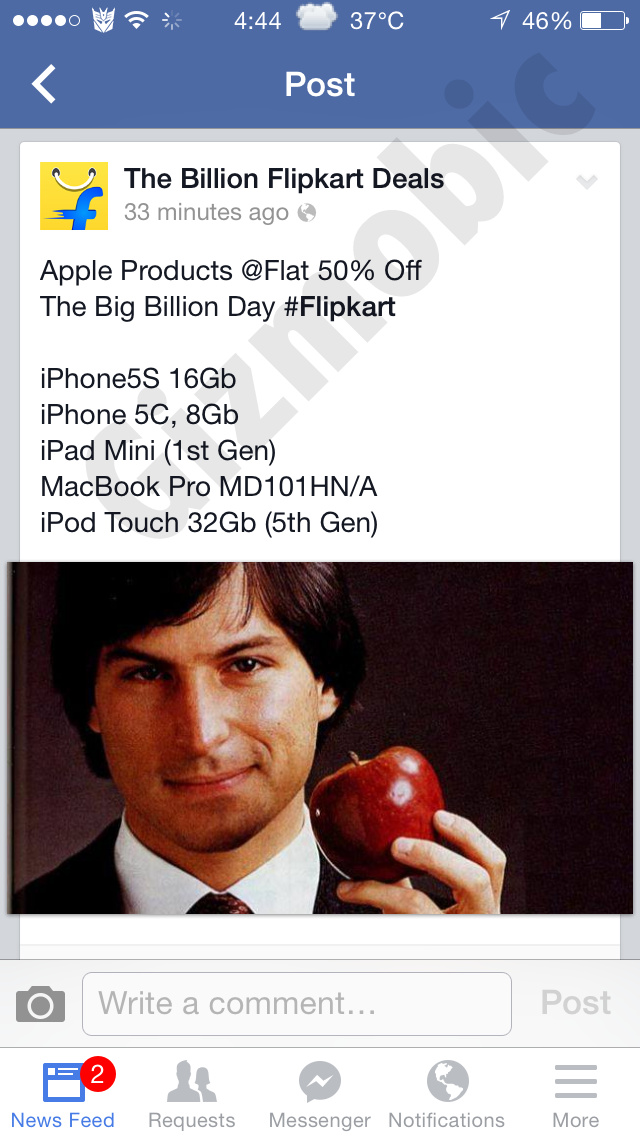 flipkart discount apple products