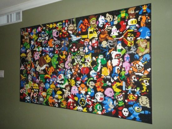 LEGO Gaming Mosaic Wall