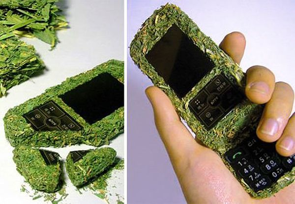 Biodegradable Grass Cell Phone