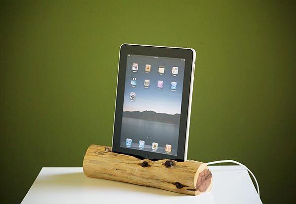 Wooden iPad Docking Station