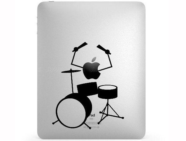 Drummer iPad sticker